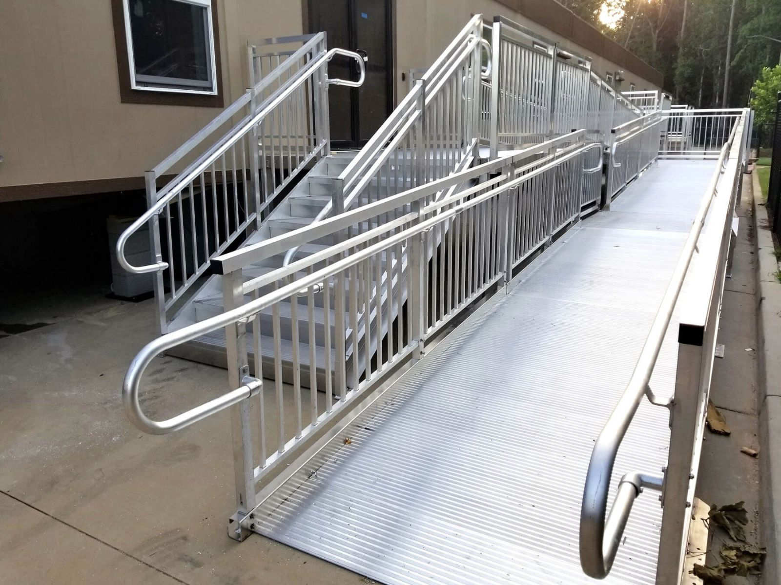 Concrete And Steel Stairs